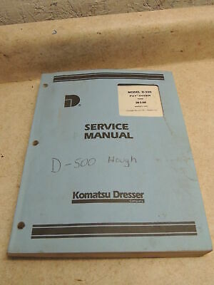 Hough D-500 Pay Dozer Service Manual Komatsu Dresser Excellent Shape Sm-d-500