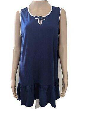 "Kate Spade ""Dream A Little Dream"" Pajama/ Nightgown Size XL - Navy Blue"