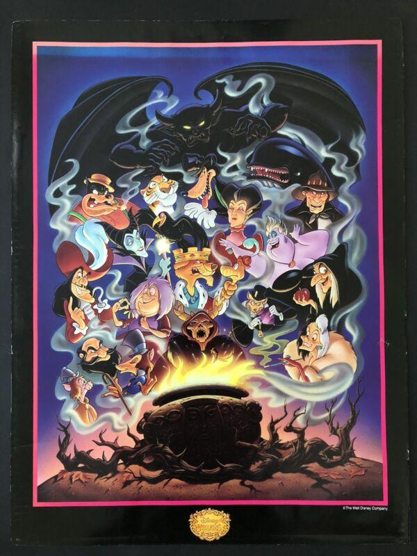 Walt Disney Villains Vintage Original Poster 18x24