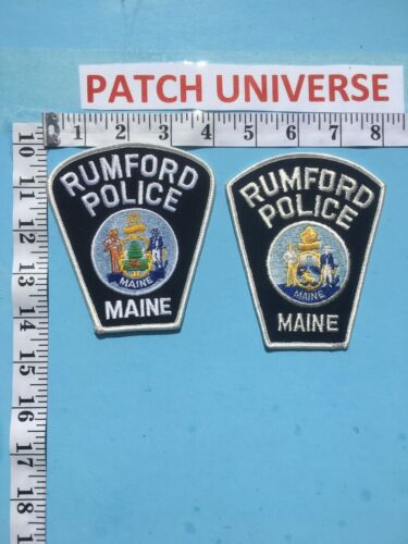 LOT OF 2 DIFFERENT RUMFORD MAINE  SHOULDER PATCHES  J038