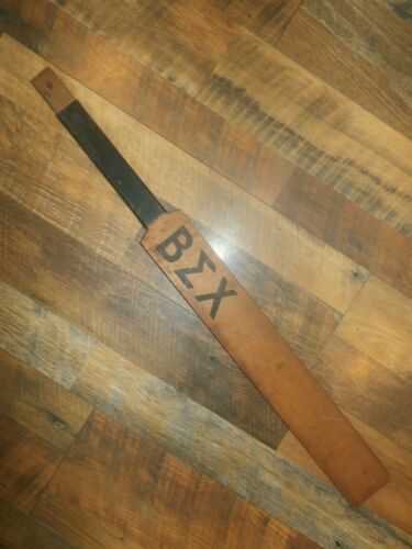 Vintage Antique Wooden Fraternity Sorority Paddle BEX Signed Beta Sigma Chi