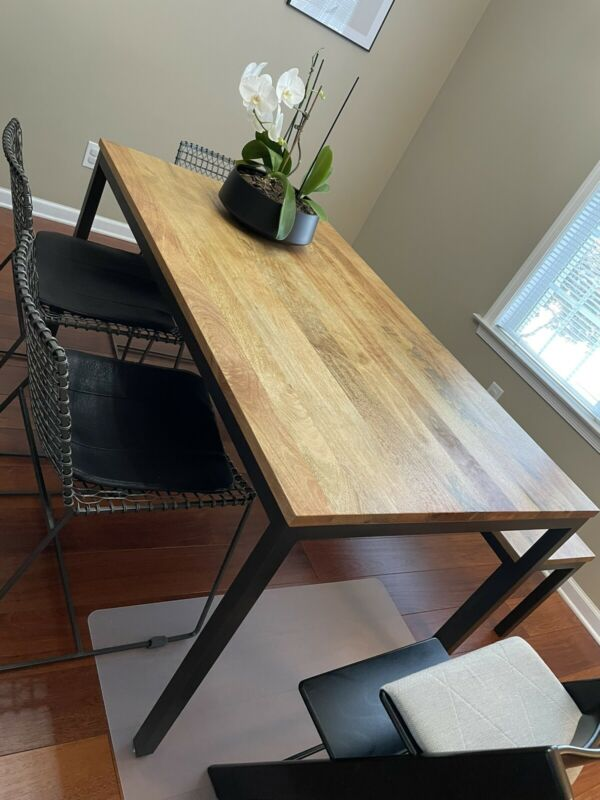 West Elm Industrial Box frame Dining Table & Bench