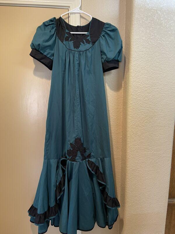 Good Times Hawaii vintage Hawaiian dress women's sm med euc