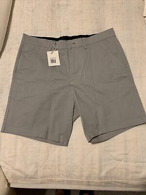 Eubi Ash Grey All Day Shorts, Size Medium