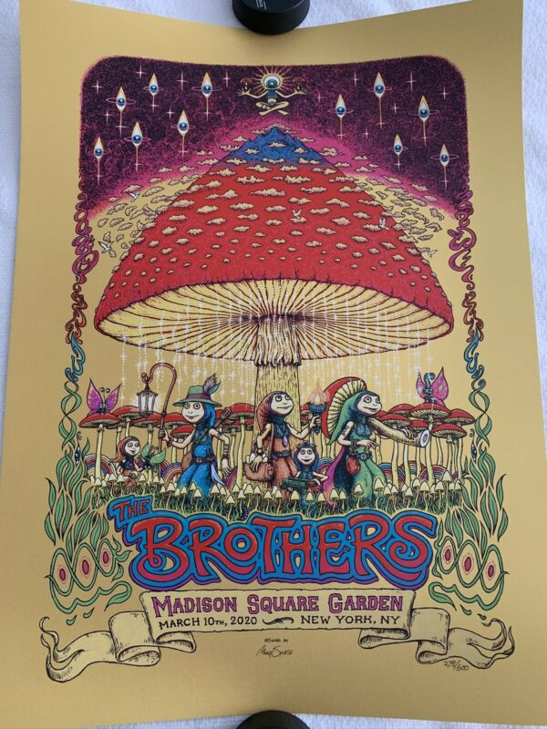 THE BROTHERS ALLMAN BROTHERS POSTER SPUSTA 50th ANNIVERSARY MSG NY 2020 #278/600