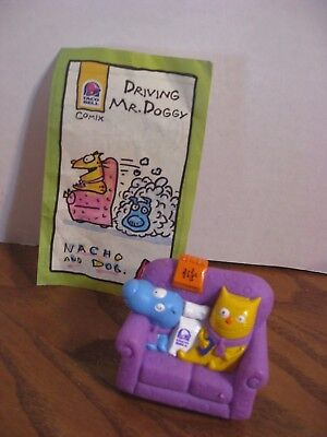 Nacho and Dog - Couch Mobile w/ Comic Book - Taco Bell - Kids Meal Toy- 1995