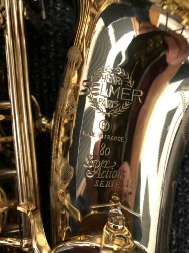 Selmer Paris Super Action 80 II Alto Saxophone beautiful condition