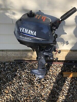 Yamaha F 2.5 Hp AMHS 4-stroke Short Shaft Outboard Engine Boat Motor In VGC