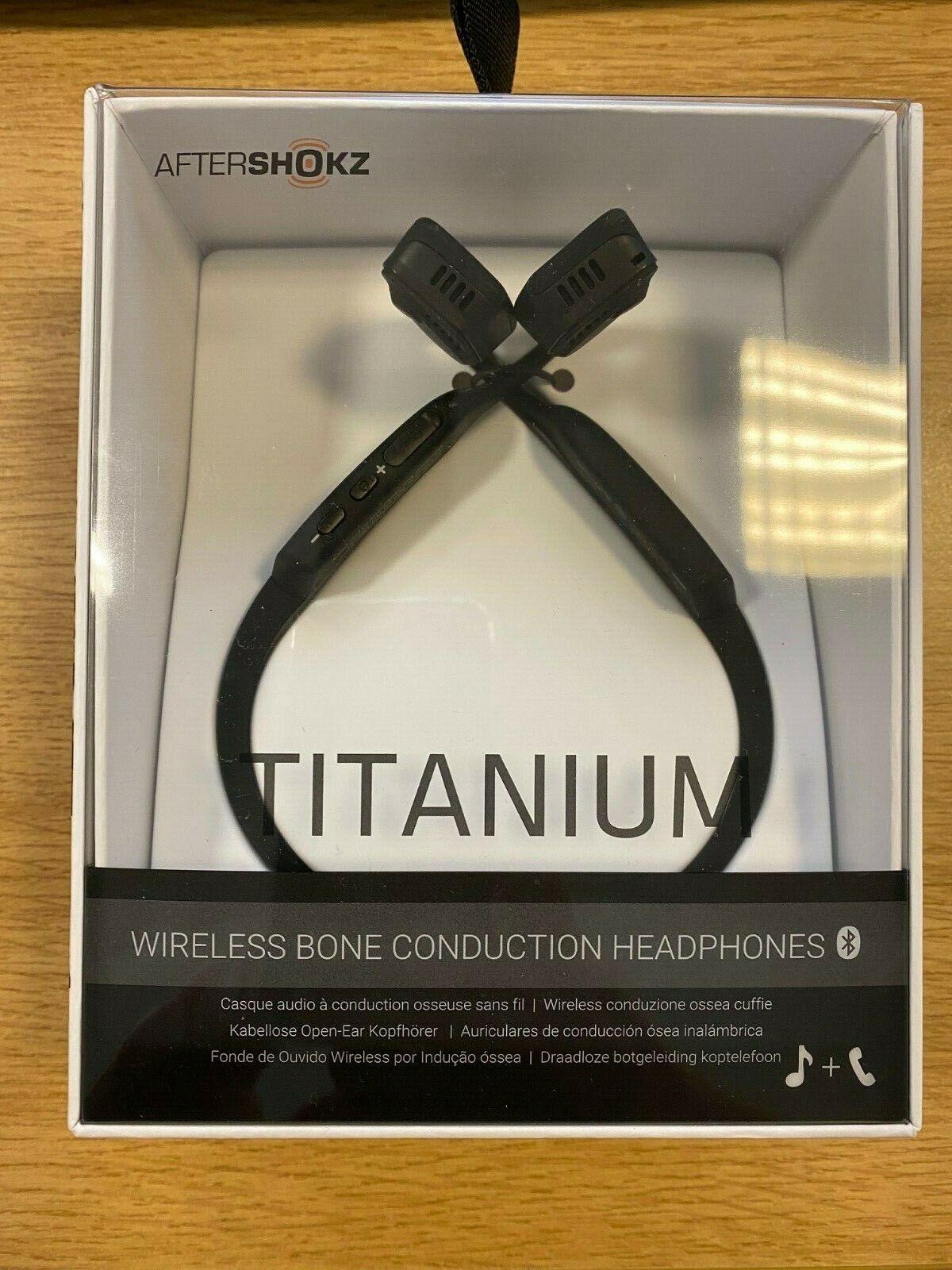 Aftershokz Trekz Titanium Black Wireless Bluetooth headset EX DEMO