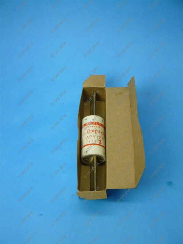 Shawmut A2Y125-3 Current Limiting Fuse Class H 125 Amps 250VAC/500VDC New