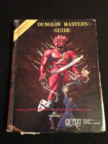 AD&D TSR Dungeon Masters Guide Dungeons & Dragons RPG Manual 6th Edition 1980