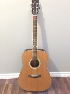 Left Handed Tanglewood Acoustic Guitar