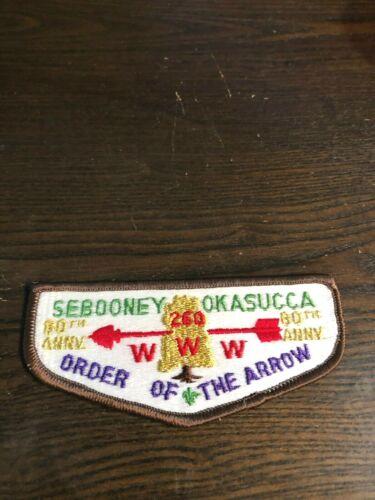 OA SEBOONEY OKASUCCA LODGE 260 S20 80th ANN FLAP