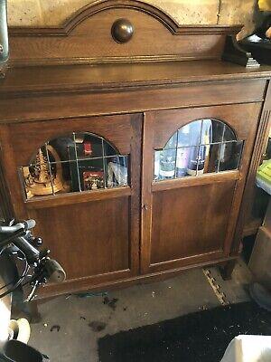 Antique Mahogany Bookcase Sideboard