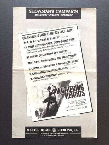 """Wuthering Heights Original Pressbook (Olivier, 1939) - 6 Pages - 11"""" x 17""""  EX"""