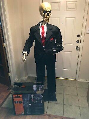 Gemmy Lifesize Animated Skeleton Butler Halloween - Gemmy Halloween Butler Prop