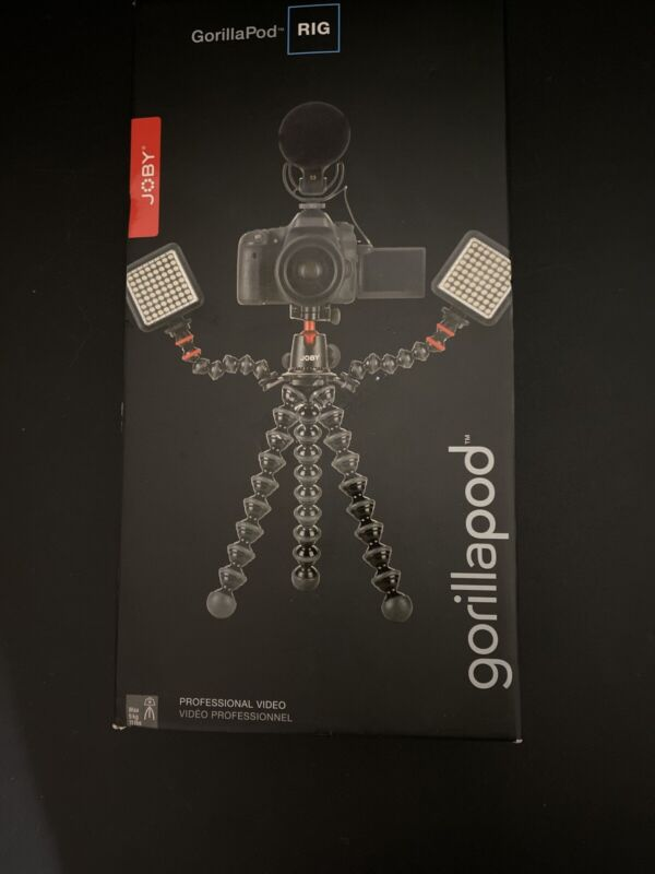 Joby GorillaPod Rig 5K Tripod Kit Red Aluminum for DSLR camera and accessories