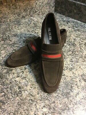 Pal Zileri Made in ITALY Brown Suede Leather Size 42UE 9 US Mint Condition.
