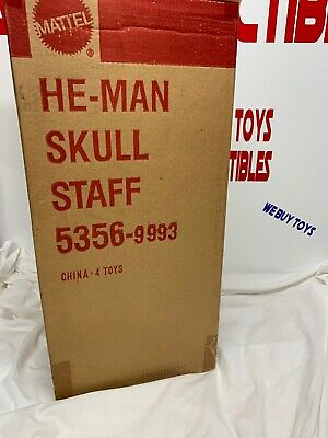 1990 HE-MAN - ELECTRONIC SKELETOR SKULL STAFF - SEALED CASE Of 4- AFA It!!! - Skull Staff