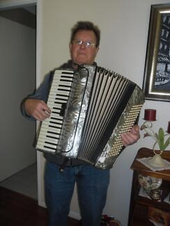 Maurice Keeley ,solo piano accordionist Woodrising Lake Macquarie Area Preview