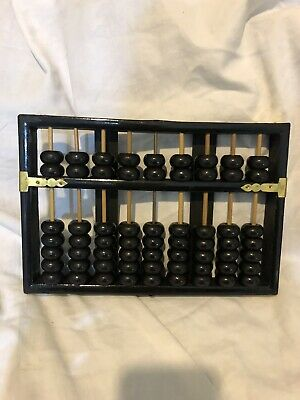 Vintage Lotus-Flower Brand Chinese Abacus 9 Rods 36 Beads