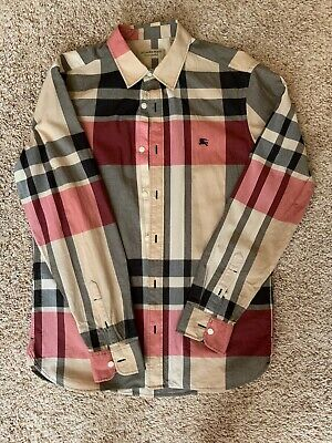 Mens Burberry Button Down Shirt Size M