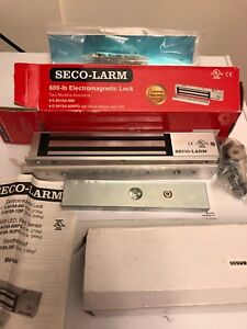 Electro magnetic Secolarm Enforcer lock with L and Z bracket kit