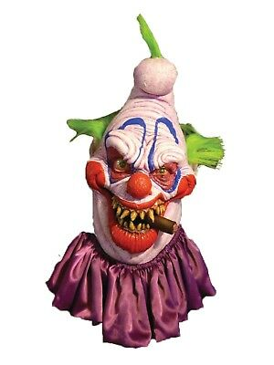 Halloween BIG BOSS CLOWN WITH HAIR & CIGAR Latex Deluxe Mask Bump In The Night
