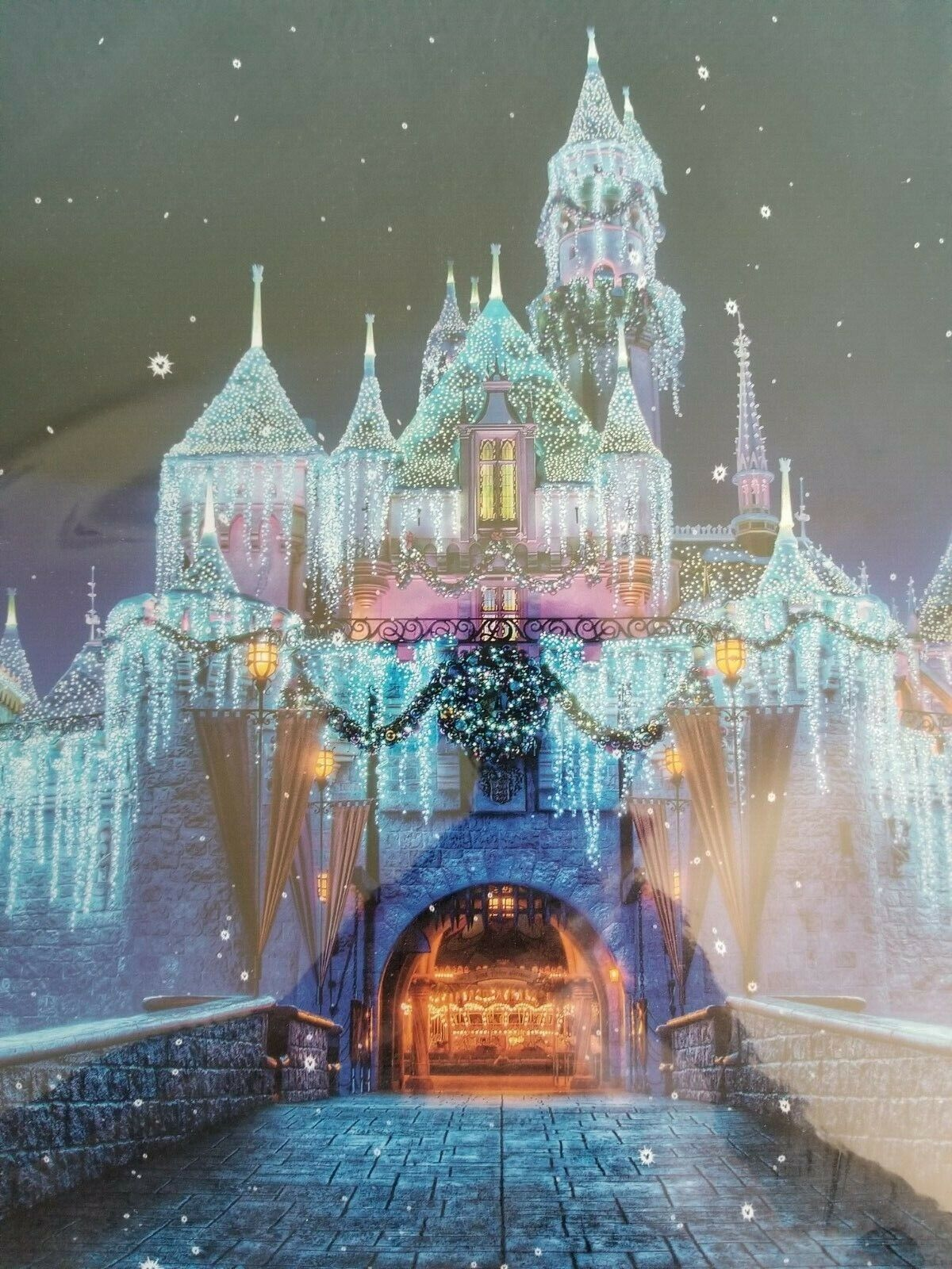 Disneyland Castle At Night 11 By 17 Print - NEW - $9.99