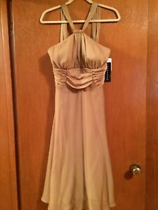 XMAS Gold Halter dress