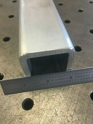 2 Aluminum Square Tube Round Corners 14 Wall X 12 Long 6061 Mill Finish Opw