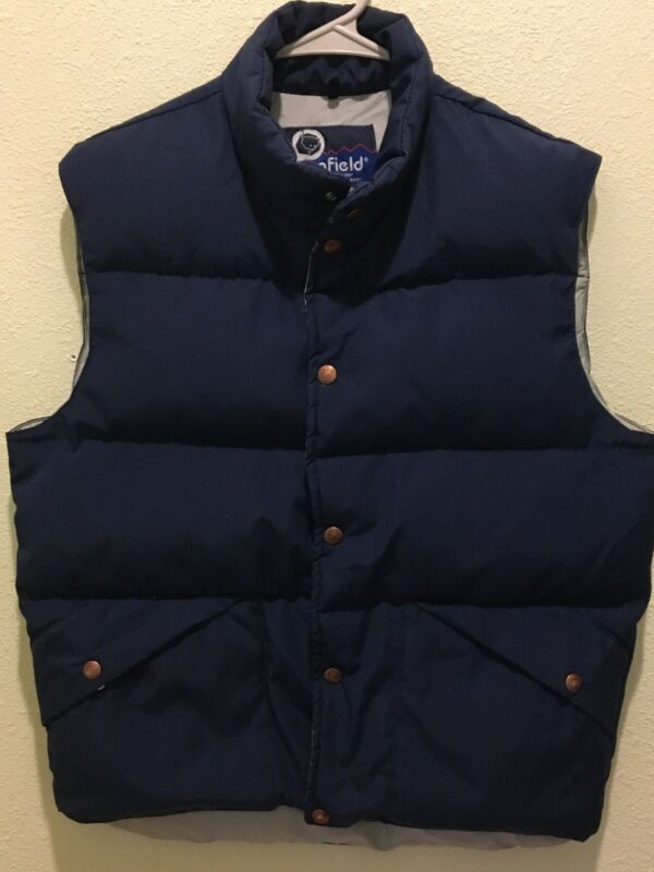Vintage Men's Penfield Blue Down Puffer Vest Medium Usa Snap