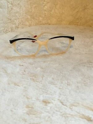 Zenni Optical Cream Black Retired Frames