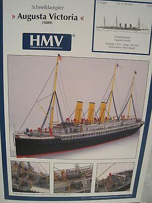 Augusta Victoria Dampfer Schiff Kartonbausatz *NEU* Bastelbogen Kartonmodell