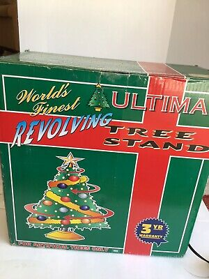 Ultima Revolving Rotating Christmas Tree Stand Original Box With Instructions.