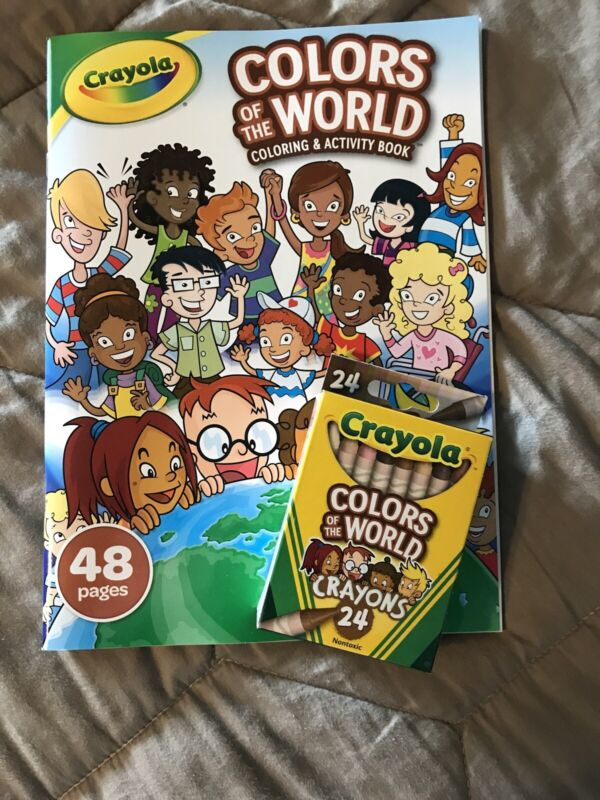 Crayola Crayons 24 Pack, Colors of The World, And Activity Book NEW