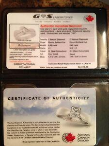 Engagement and wedding ring set