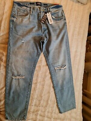 Superdry Jeans Mens Size 32 Oversized Tapered