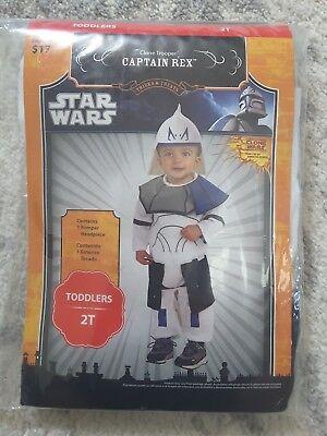 New Toddler Boys Star Wars Captain Rex Halloween Costume Size 2T - Star Wars Captain Rex Halloween Costume