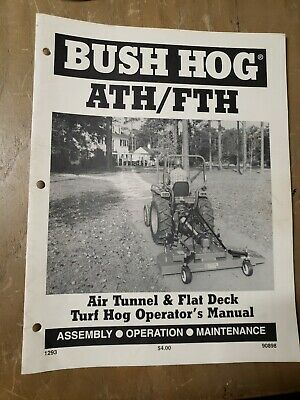 Bush Hog Athfth Air Tunnel Flat Deck Turf Hog Operators Manual 1j-2164-x19