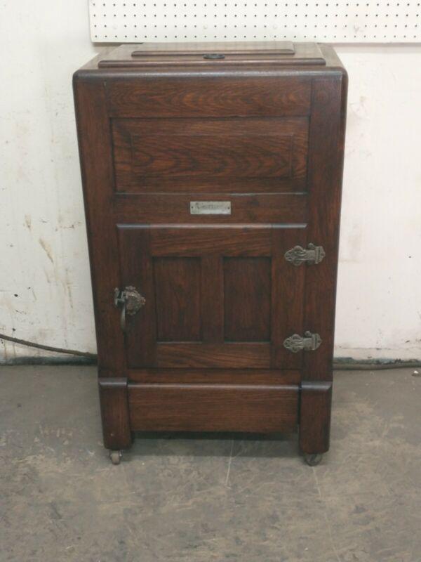 Antique oak ice box Old Finish