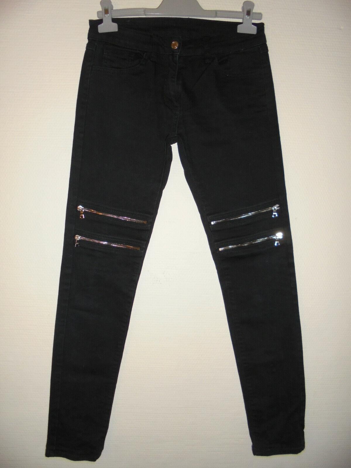 Sandro jean slim skinny jambes zippées t36