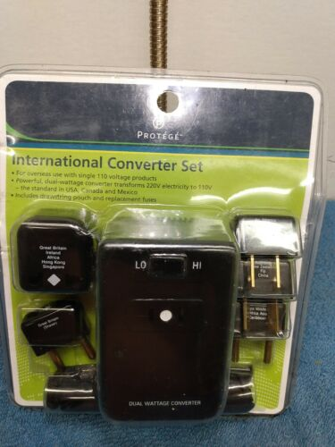 International Power Converter, Black New In Package For Overseas Use - $14.99