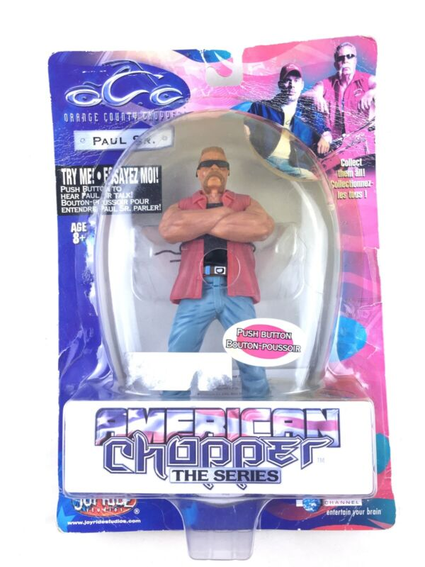 "Orange County Choppers 7"" Paul Sr. Action Figure Toy Talks American Chopper READ"