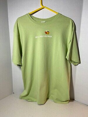 Starbucks Coffee Employee T-Shirt Vintage We'll Help You Brew Size Large Green