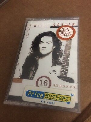 BILLY SQUIER 16 STROKES THE BEST OF  FACTORY SEALED CASSETTE  ALBUM