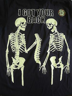 NEW 2XL XXL Skeleton I Got Your Back All Year Halloween Glow in the Dark T-Shirt](Halloween Glow In The Dark Shirts)