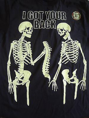 NEW 2XL XXL Skeleton I Got Your Back All Year Halloween Glow in the Dark - Dark New Year