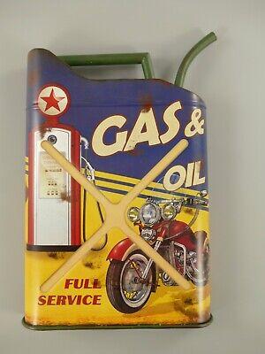 Ölkanister Öldose Kanister Gas & Oil 50x35cm Wandschild 20Liter