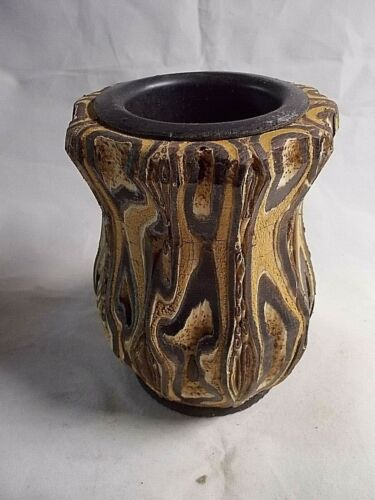 New Zealand PONGA VASE Unique Rare Hand Crafted UNREAL One Of A KIND -4